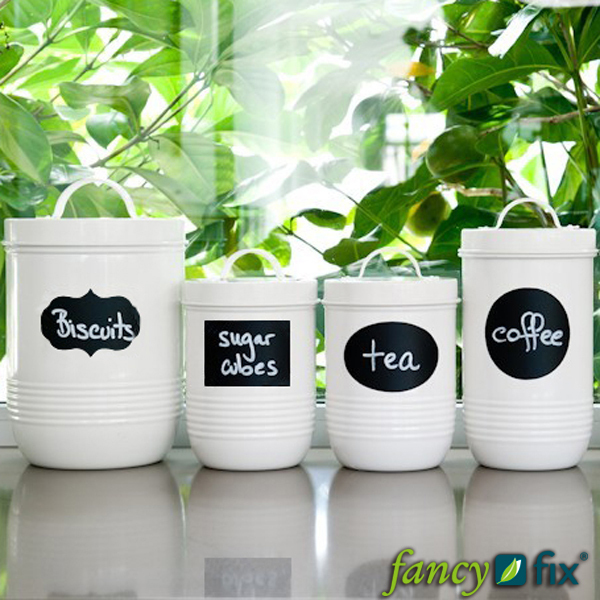 Fancy-fix Large Size Vinyl Chalkboard Label Sticker 36 pieces/ lot Blackboard Wall Stickers Decal Great for Labeling Jars B13(China (Mainland))