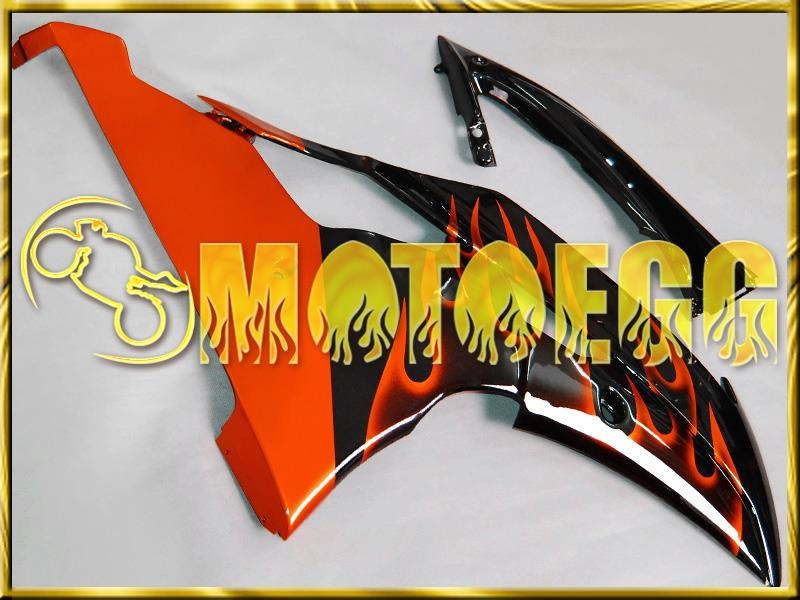 Motoegg Plastic Fairings For YAMAHA YZF-R6 YZF R6 08-11 Orange Flames M14 + Tank   Motorcycle plastic
