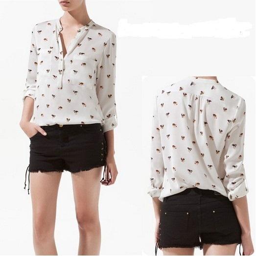free shipping blouse new fashion 2013 women shirts long sleeve shirt chiffon dresses women spring