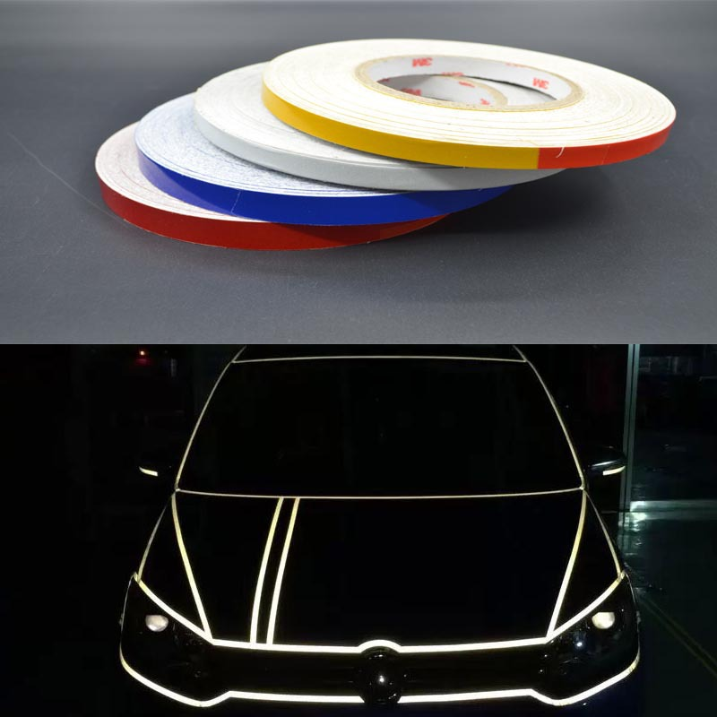 2015 Hot sale 4 colors 5m *1/1.5/2cm Roll Car Styling Super Reflective Garland Stickers Body-color Decorative Changed Lines(China (Mainland))