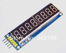 Free Shipping!!! 8 digital LED display module 595 eight serial line drivers deliver five DuPont(China (Mainland))