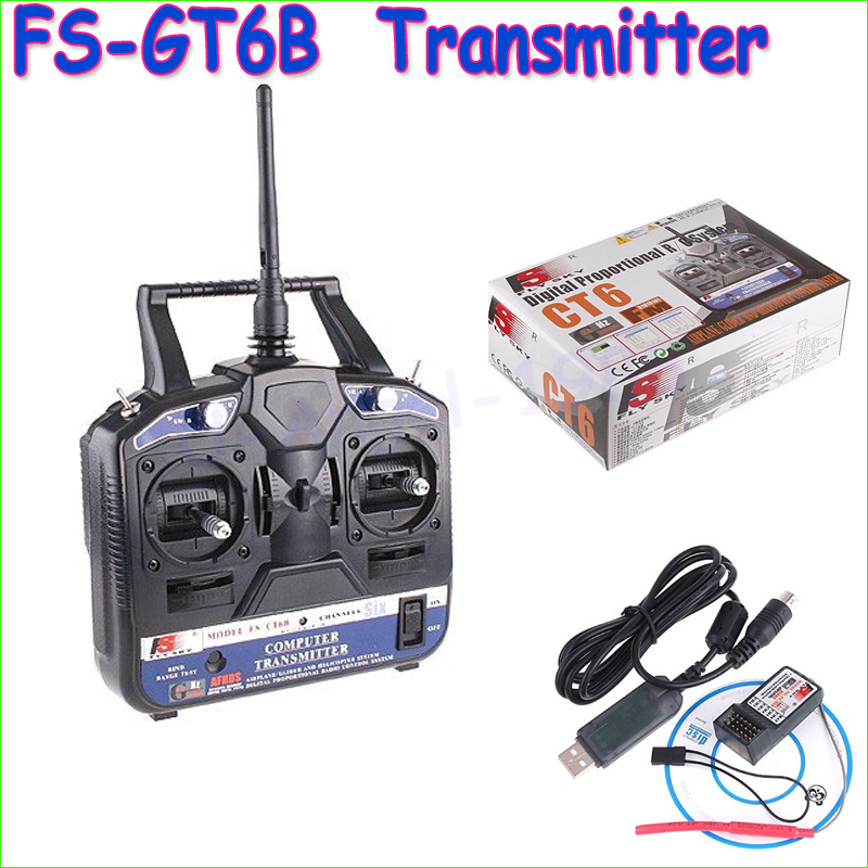 1pcs Original Flysky FS 2.4G 6ch Radio control Transmitter & Receiver CT6B for 3D RC helicopter airplane(China (Mainland))
