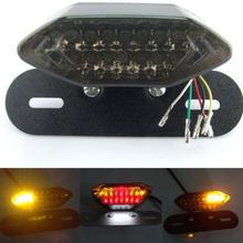 Multi-function LED Motorcycle Light Turn Signal Brake License Plate Integrated Tail Light Lamp with Bracket(China (Mainland))