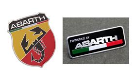 60*53mm abarth sticker 80*30mm 100*26mm abarth Labeling Car Aluminum Alloy Badge Sticker Emblem Decal Sticker car sticker(China (Mainland))