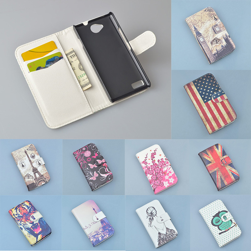 Luxury Wallet PU Leather Case Cover For ZTE Blade G LUX V830 Phone Case Cartoon Flip Back Cover Housing With Card Holder Stand