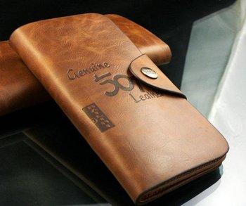 Free shipping,2012 fashion Men genuine cow Leather long  Wallet Pockets rfid Card Clutch Cente Bifold Purse ,  wholesale WBL1