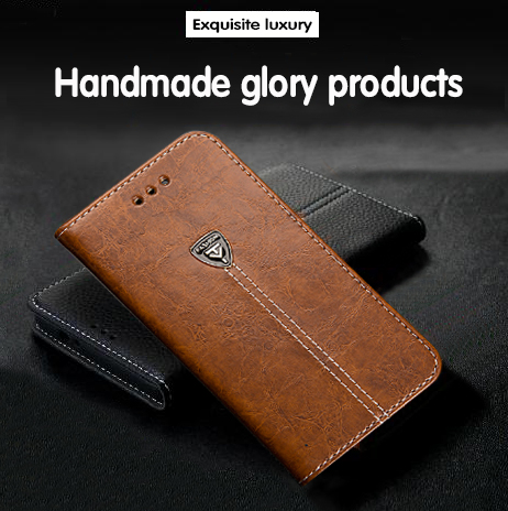 inew v7 case New High quality fashion High end Metal LOGO flip leather Mobile phone back cover(China (Mainland))