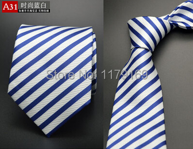 20 style Formal business wedding Classic men tie stripe grid 8cm Silk corbatas Fashion Accessories men