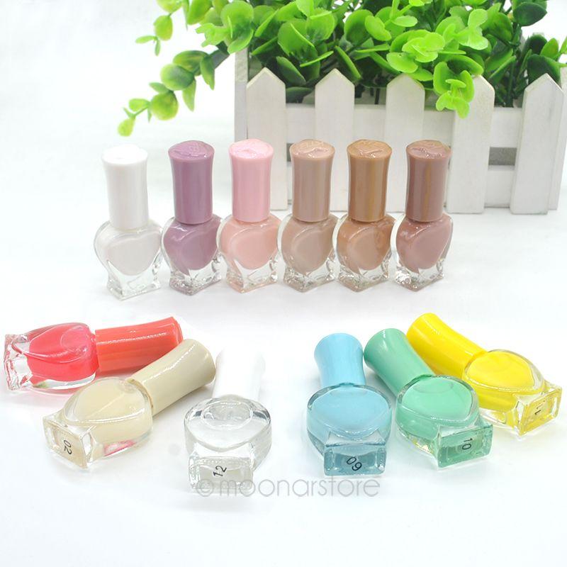 12 Colors Non-toxic Environmental ProtectionArt Nail Polish 6ML heart-shaped Beauty Tools J*60CHJ0155 - Sala's Fashion Store store