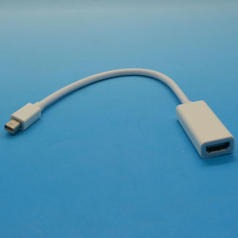 20cm Mini DisplayPort DP To HDMI Adapter Audio Cable For MacBook Pro Air Brand New Free Shipping(China (Mainland))
