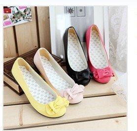 2014 new fashion shoes ladies bow Korean flat rubber sole shoes X075_851 (four-color)