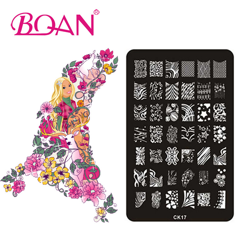 BQAN 10pcs/lot High Quality Salon Express Nail Art Stamping Kit CK17(China (Mainland))