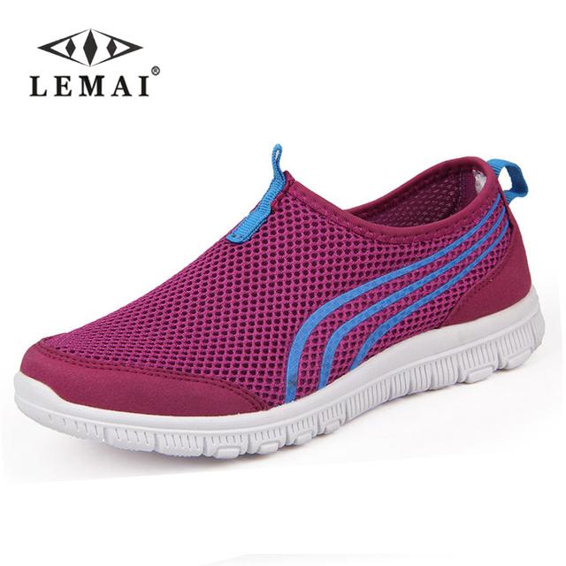 2016 удобные дышащие мужчин повседневная обувь, женщины Супер Свет сетки Леди Zapatillas ...