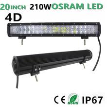 210W LED Work Light Bar 20″ inch OSRAM for SUV ATV UTV Wagon 4WD 4X4  Camper Ford Led Offroad Roof Light Bar fog light Headlight