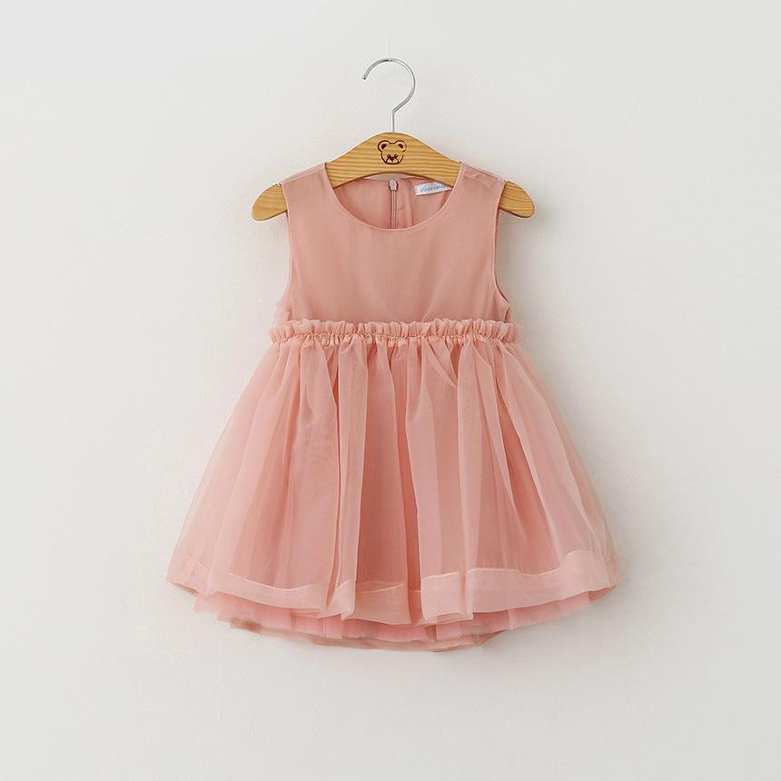 2016 Kids Girls mesh  Lace Dresses Baby Girl Summer Ruffle Princess Dress Girl tutu Dress Babies Clothes