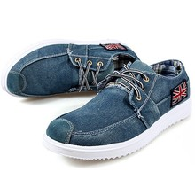Men shoes low canvas fashion trend casual breathable shoes denim shoes lace up vintage British designer-shoe moccasin men X0296(China (Mainland))