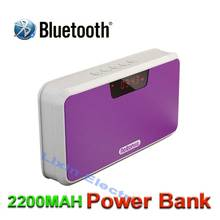 2016 New Bluetooth Portable Speaker Support TF Card Play Hands-Free Telephone FM Radio And Recording Power Bank LED Screen