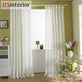 DSinterior white color tulle sheer curtain for bedroom or living room window