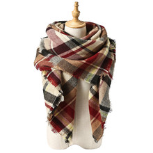 Winter Large Tartan Fashion Women Versatile Gorgeous Plaid Scarf High Quality Pashmina Cozy Comfortable Blanket Shawl