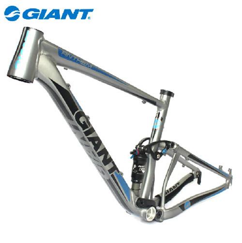 2012 GIANT DH Downhill Mountain Road Bike Frame (Anthem X-FR) Aluminum Alloy Material Sliver Dark gary/Blue/Black M/L(China (Mainland))