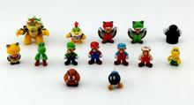 5pcs/set Plastic Super Mario Bros PVC Action figures Toys Dolls for children super gifts hot sale
