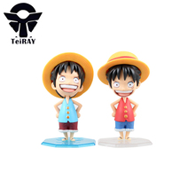 One Piece Q Version Luffy Figure Japanese anime Pvc Action Figures toys Two years later Banpresto Kids Birthday toys Gift 4″