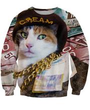 3D Women Men Animal Sweats CREAM Sweatshirt The Wu Tang Clan on our CREAM Crewneck Sexy Sweatshirts Pullover Tops Hoodies Jumper(China (Mainland))