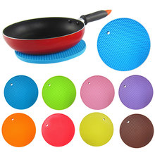 Buy Multifunctional Round Alveolate Non-Slip Heat Resistant Mat Coaster Cushion Place Mat Pot Holder Table Silicone Pad Dura for $1.63 in AliExpress store