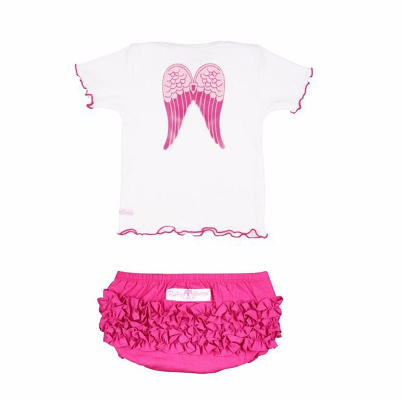 Angel Wings Newborn Baby Girl Clothes Cotton Infant Baby Clothing Kids Suit Set Princess Enfant Children Summer Wear