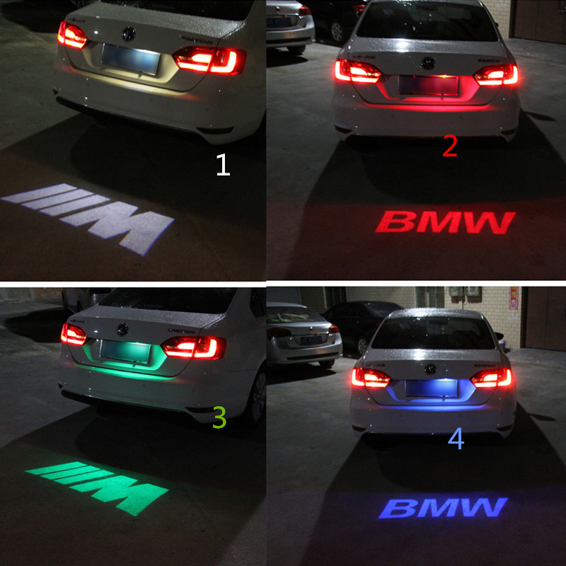 1pcs CANBUS Red Car LED License Plate Light 12V LED Logo projection Laser Number Plate Lamp For BMW 3 Series 5 Series X1 X3 X5(China (Mainland))