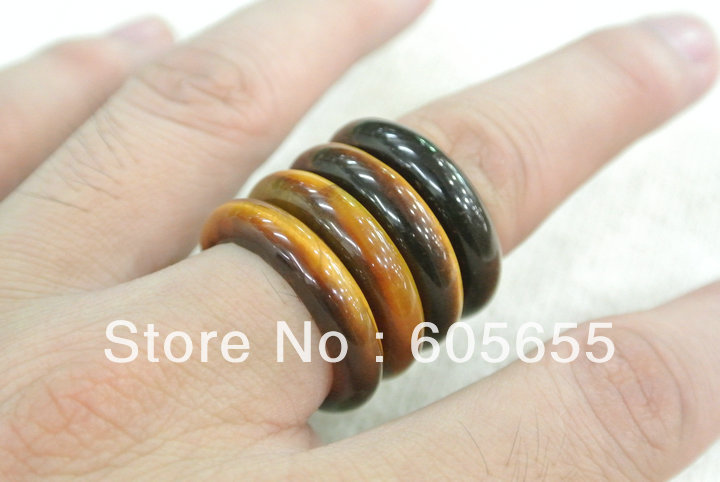 Tiger Eye Rings Semi Precious stone rings Various size Fashion Jewerly  Free Shipping<br><br>Aliexpress