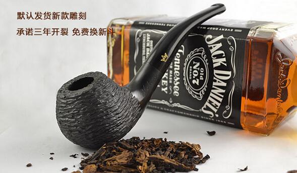 Smoking Set Ebony Wood Smoking Pipe Handmade Black Tobacco Pipe 9mm Filter Wooden Pipe WR018