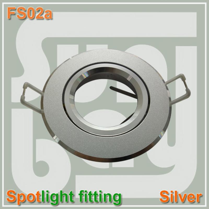 30pcs/lot free shipping high quality aluminum spotlight fitting aluminium body  Holder Socket GU10  silver color<br><br>Aliexpress