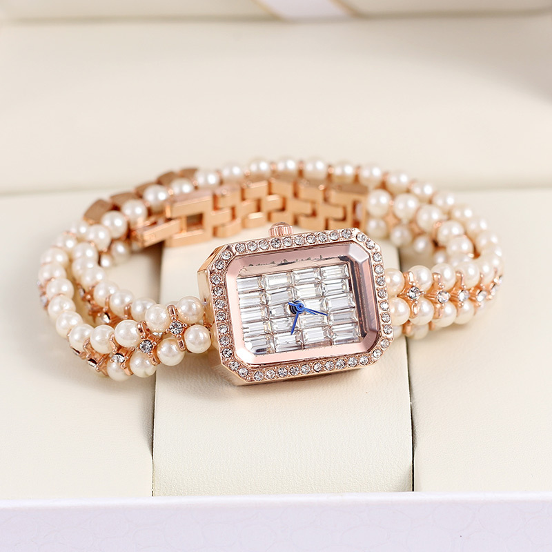 Гаджет  2014 Hot Sale Luxury Brand Gedi Fashion & Casual  Watch Women Dress Watch Wrap Around Pearl Rose Gold Quartz None Часы