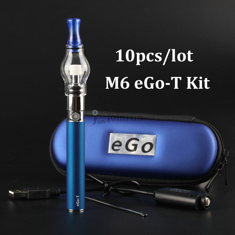 Ego Glass globe for wax dry herb atomizer starter kit Electronic cigarette M6 EGO T kit