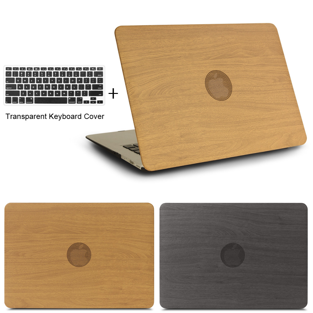 High Quality WOOD GRAIN PU Leather Laptop Cases for apple MacBook Air 11 13 for MAC Pro Retina 12 13.3 15 inch + keyboard cover(China (Mainland))