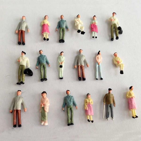 100pcs 1:150 Fancy Painted Model Plastic Railway Park Street Gargen Passenger Competitive Product People Figures Human(China (Mainland))