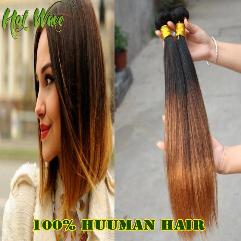 Гаджет  2015 Sale Top Fashion 6A Peruvian Virgin Hair Ombre Straight Hair Weaving 3pcs/Lot 100%Unprocessed Human Hair Free Shipping LY35 None Волосы и аксессуары