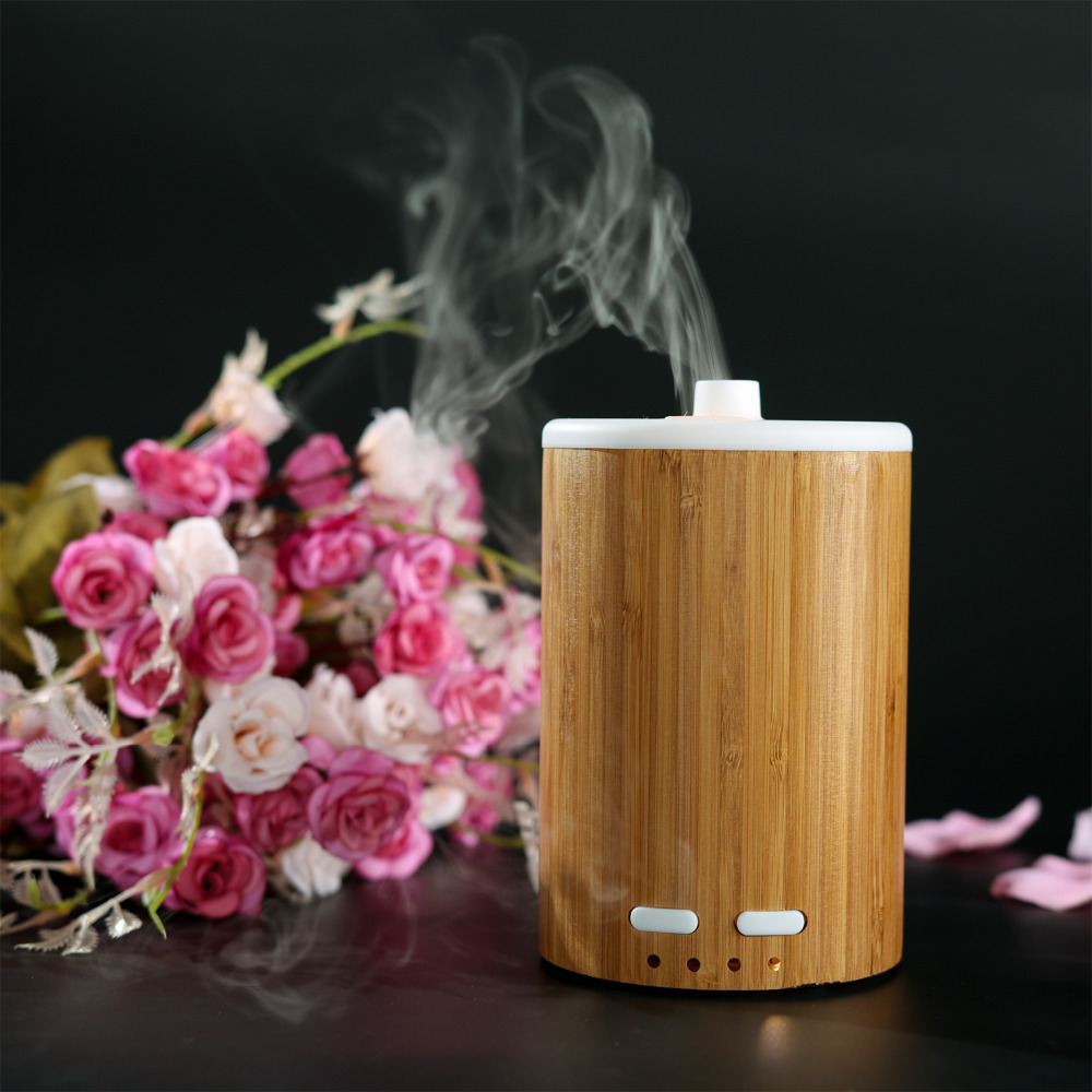 New Arrival Solid Bamboo Humidifier 150ml Mist Frog Led Color Changing Ultrasonic Aroma Diffuser For Home Office(China (Mainland))