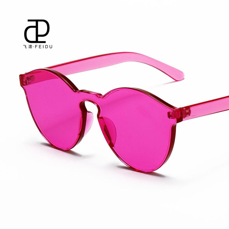 Rimless Glasses Fashion : FEIDU 2016 Fashion Integrated Rimless Sunglasses Women ...