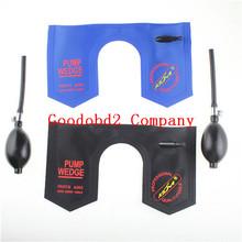 Klom bomba de la cuña herramientas de cerrajería de automóviles aire Airbag Lock sistema de la selección puerta abierta del coche U Wedge azul y negro