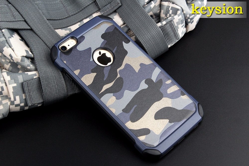"""2in1 Armor Hybrid Plastic+TPU Army Camo Camouflage Rear Cover for iPhone 6 6S 4.7"""" with Special Shockproof Angle Phone Cases"""