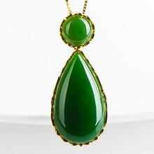 Buy Eollar colgante Emerald necklace pendants fine jewelry choker diopside Fashion pingente esmeralda necklace Ciondolo della giada for $538.33 in AliExpress store
