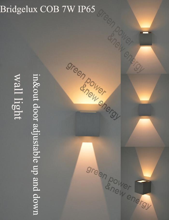 IP65 cube adjustable surface mounted led cob wall light, wall light led 7W,up and down wall light white,black color CE RoHs(China (Mainland))