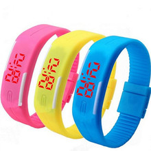 Fashionable Candy Color LED Touch Bracelets Personality Sports Digital Watches Toys Light-Up Toys Waterproof Wristwatch Bracelet(China (Mainland))