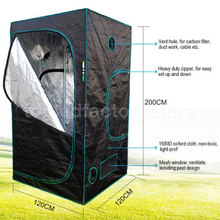 "1680D Hydroponics 48""x48""x78""(120x120x200cm) Grow Tent Hydro System 100% Reflective Mylar Grow Tent/Box for Plants(China (Mainland))"