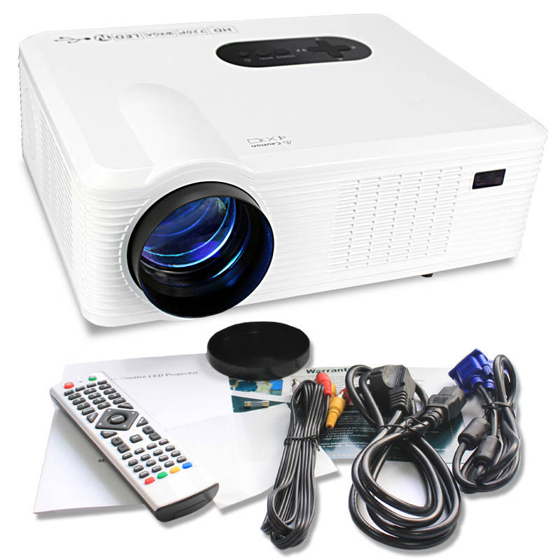 HOT SALE!!! free shipping new HD Home Theater CinemaLed TV 3D GAMES Multimedia Player LED Projector with HDMI /AV/VGA/SD/US(China (Mainland))