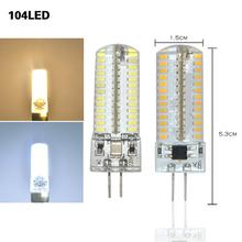 Factory Wholesale G4 Led Light 220V Silicon Lamp 104Led 3014 SMD Crystal Spotlight Corn Bulb 9W Bulb Lighting Pendant 10Pcs/Lot()
