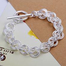 H023 925-sterling-silver  bracelet, 925 jewelry silver plated  fashion jewelry Triple Bracelet /ajuajbba bhjajyqa(China (Mainland))