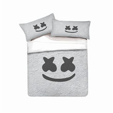 MUSOLEI 3D Bedding Set DJ Marshmello Soft Bed Duvet Cover Set Twin Queen King Size(China)